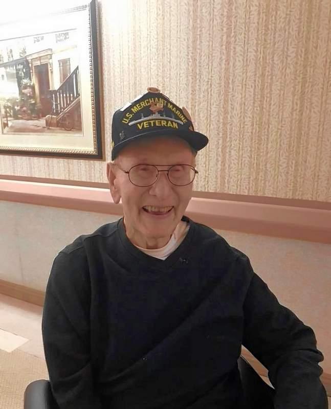 Gilbert Ledbetter, a resident of Saline Care Center in Harrisburg, remembers the difficulties endured during World War II.