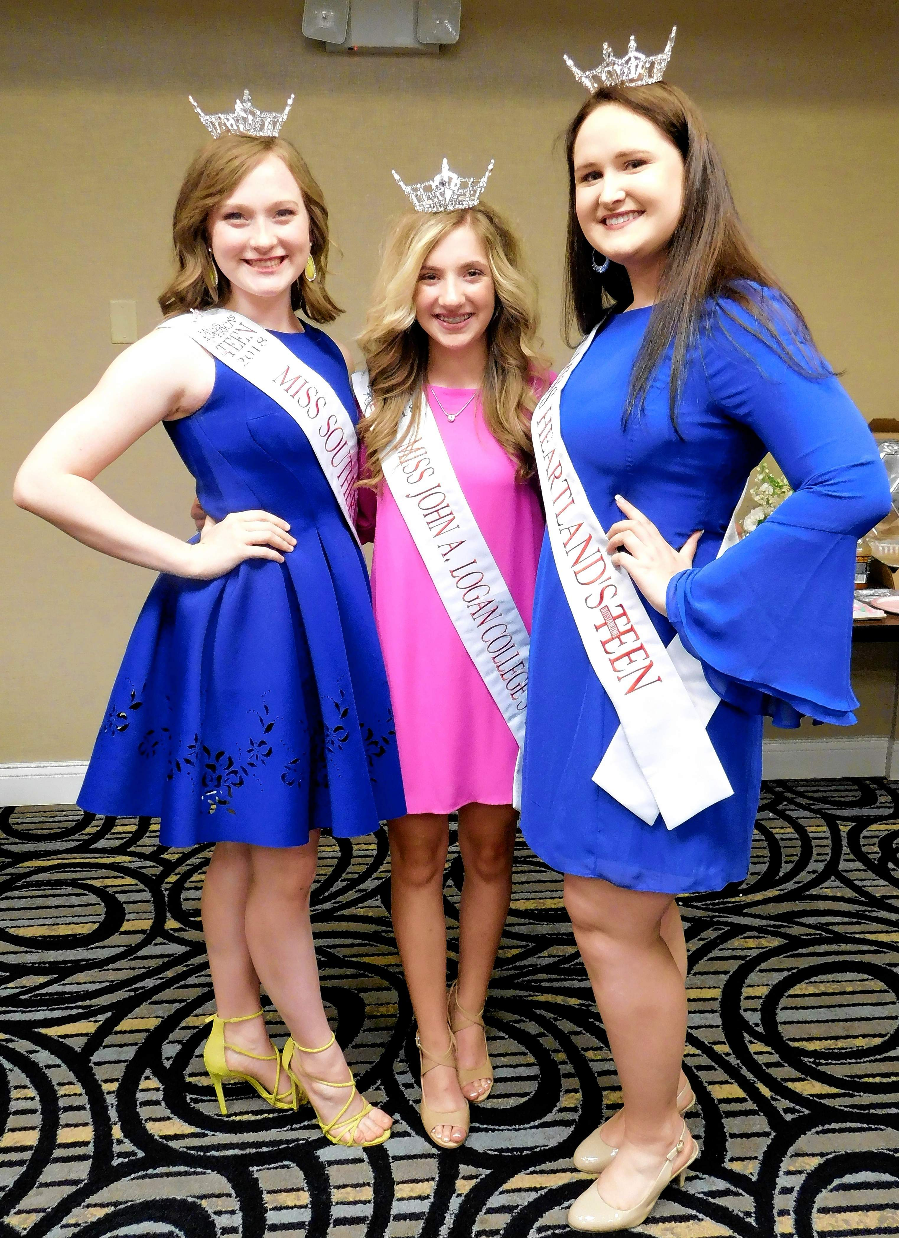 Victoria Shore, Tara Kay Tanner, and Anna Madura will compete in the Miss Illinois Outstanding Teen pageant this week at the Marion Cultural and Civic Center.