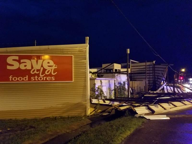 The Save-A-Lot grocery store in Herrin sustained major damage.