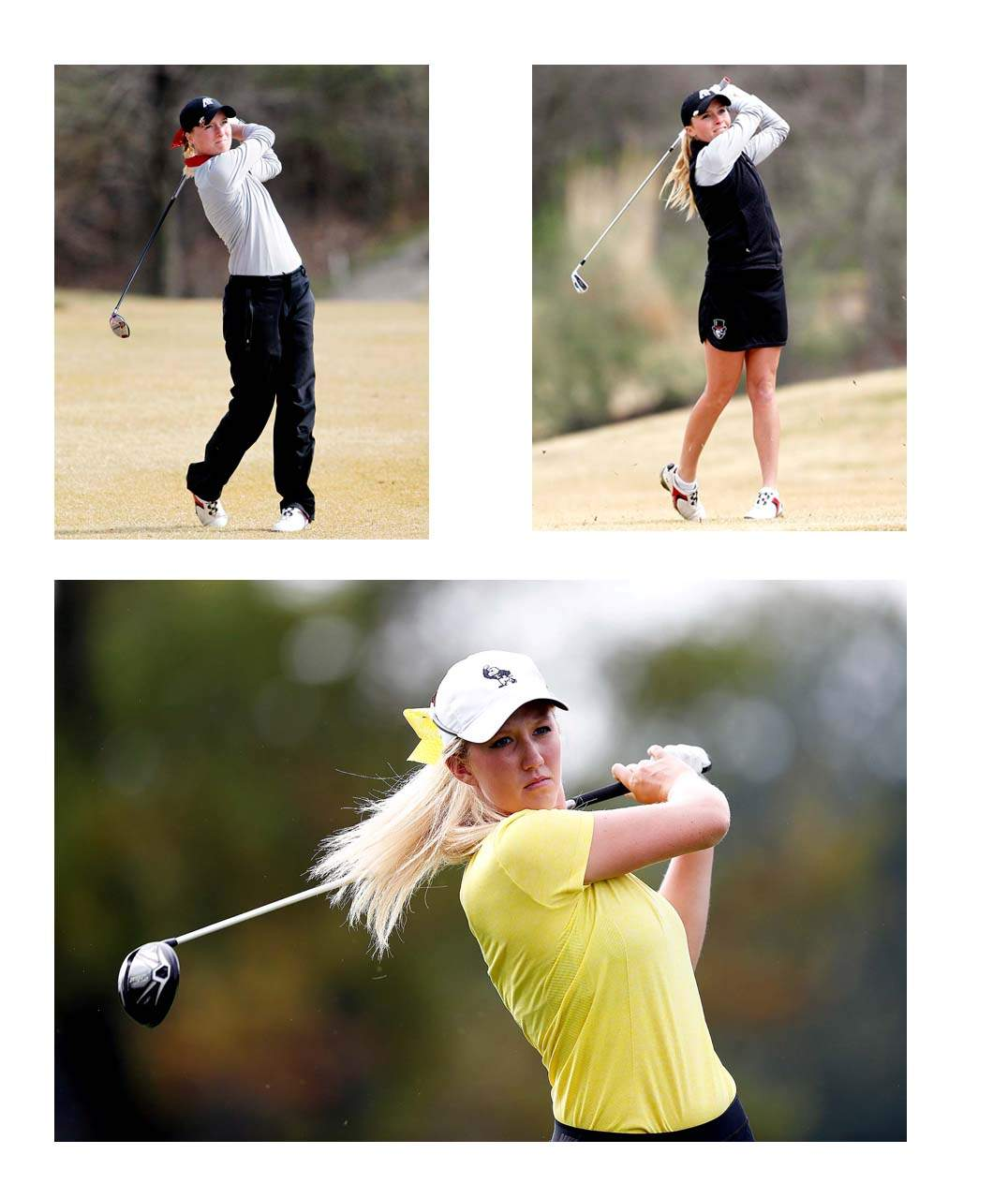 Eldorado graduates and seniors-to-be at Austin Peay State University Taylor (left) and Ashton Goodley were both named Women's Golf Coaches Association (WGCA) All-American Scholars. Both Goodleys make their third consecutive appearance on the list. (Bottom) Shawn Rennegarbe maintained a cumulative GPA of 3.50 or higher at Iowa. On the women's golf team, Rennegarbe competed in all 10 tournaments for the Hawkeyes last season. She carded a career-best finish at the Hawkeye El-Tigre Invitational (March 16-17), tying for 20th with a three-round total of 225 (+9).