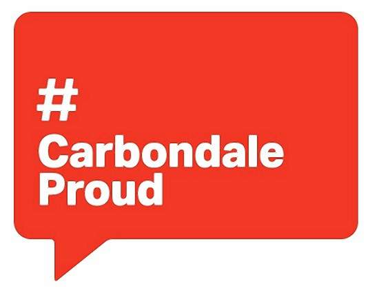The official logo of #CarbondaleProud.
