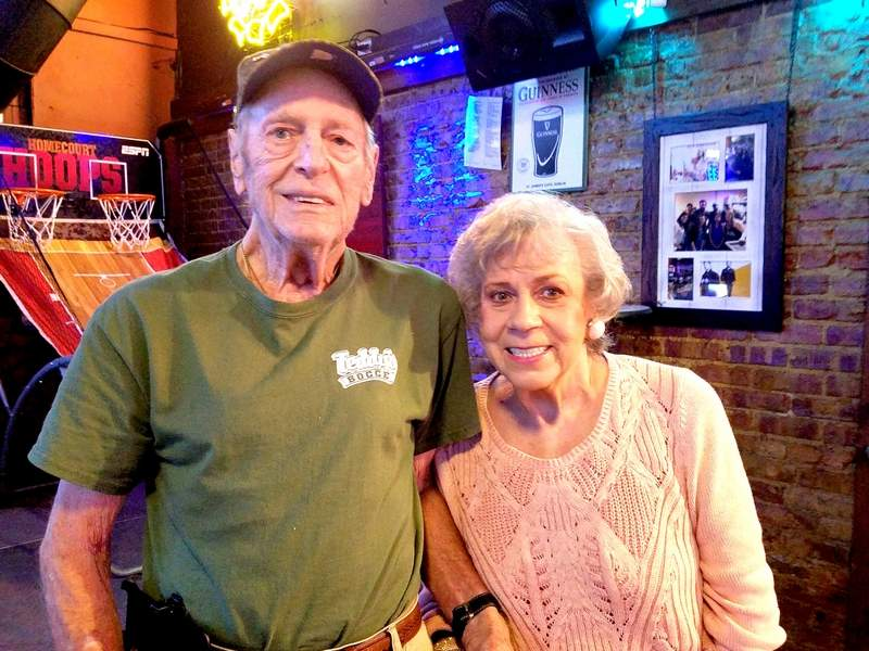 Herrin resident Jim Vest is shown here with friend, Frances Bracy, while having dinner at Teddy's Sports Bar in Herrin last week. Vest, who moved to the region a decade ago, enjoyed an illustrious high school and collegiate basketball career in Kentucky.