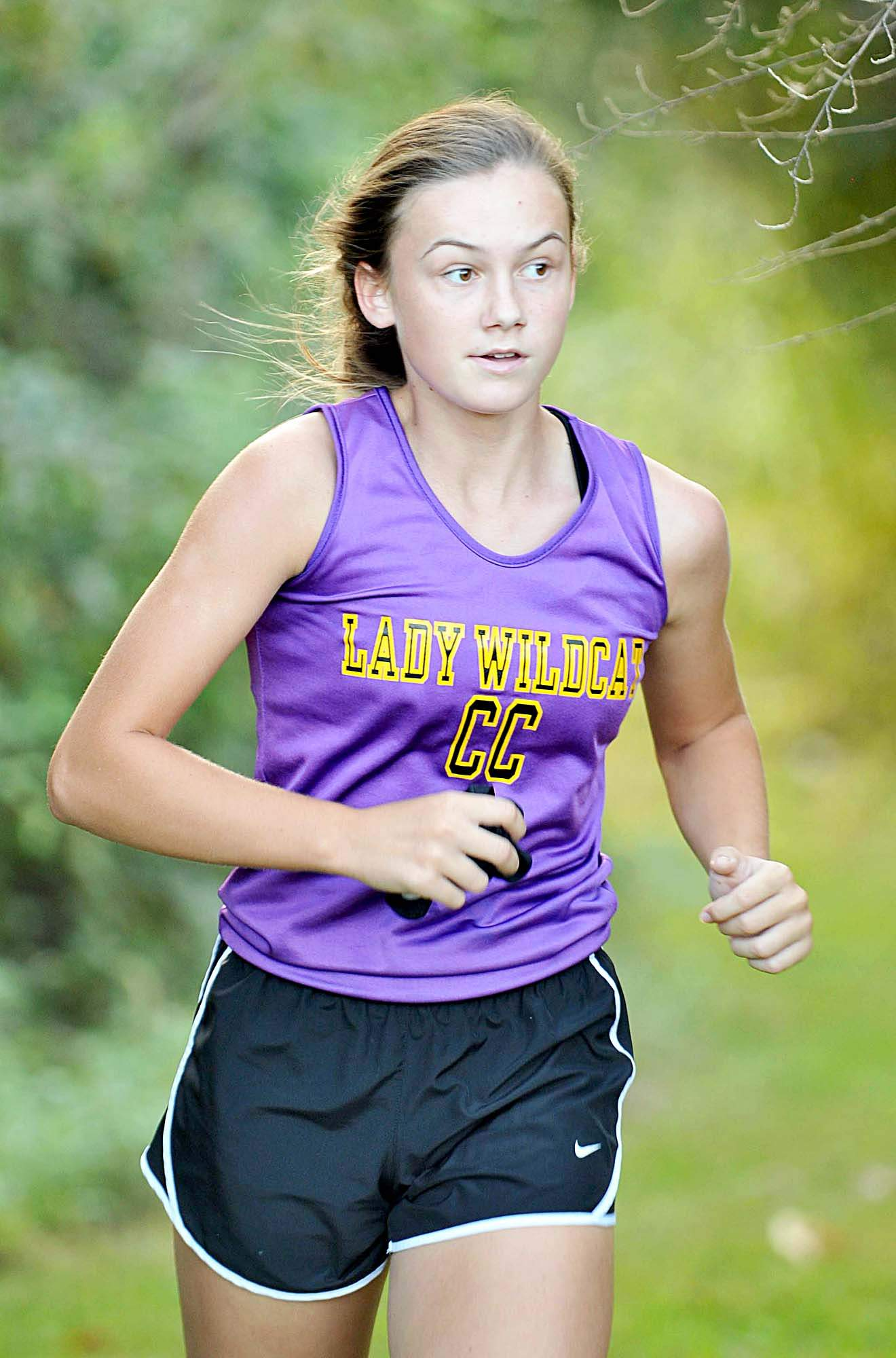 Abby Whiting was the top runner for the Carrier Mills-Stonefort Cross Country team Tuesday during the Harrisburg Invitational at SIC.
