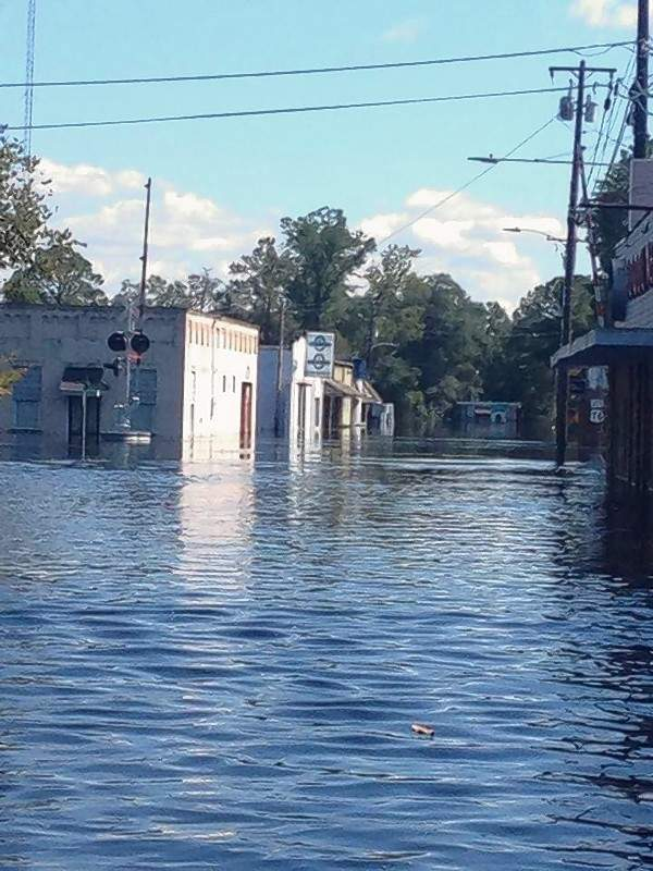 Flood waters from Hurricane Florence have destroyed the small town of Nichols, South Carolina.  The flooding is expected to worsen in the coming days as three local rivers begin to crest.