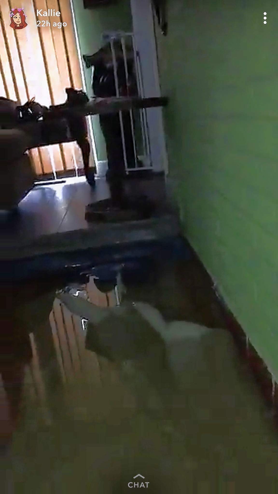 Flood waters left after Hurricane Florence passed through Dillon, South Carolina, fill the home of southern Illinois natives Brooke and Charles Wright.