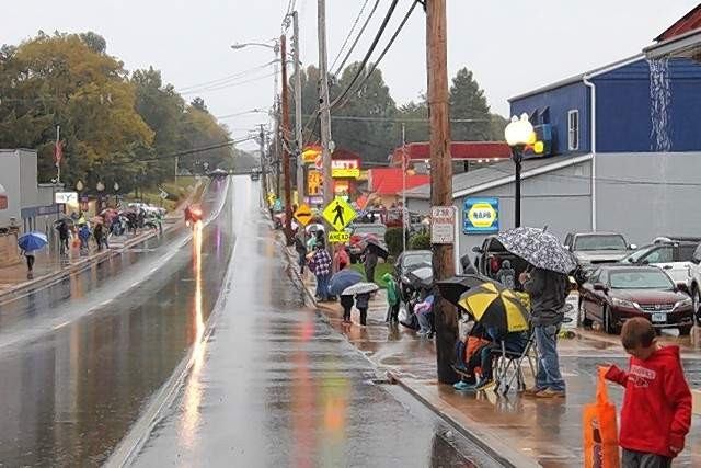 Crowds braved the rain to get a spot for the Steeleville Jaycees' Oktoberfest parade on Oct. 12.