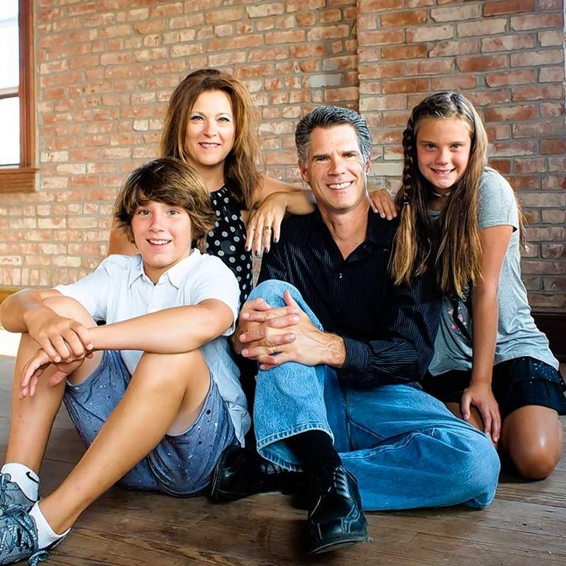 David Friess and family