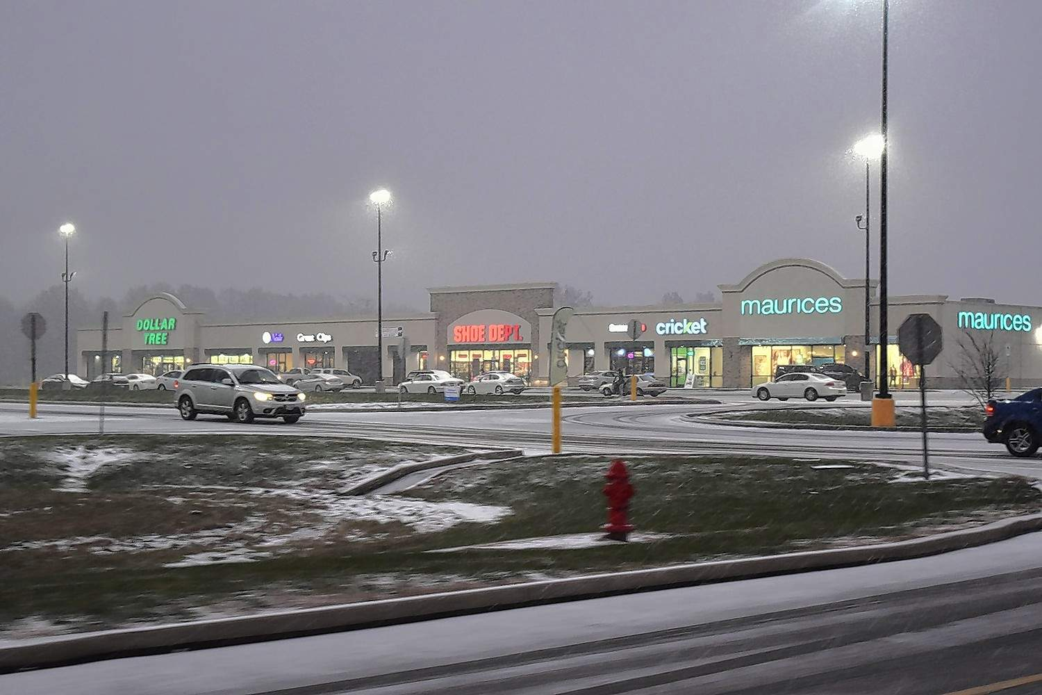 Snow quickly sticks as it falls Wednesday afternoon in Harrisburg.