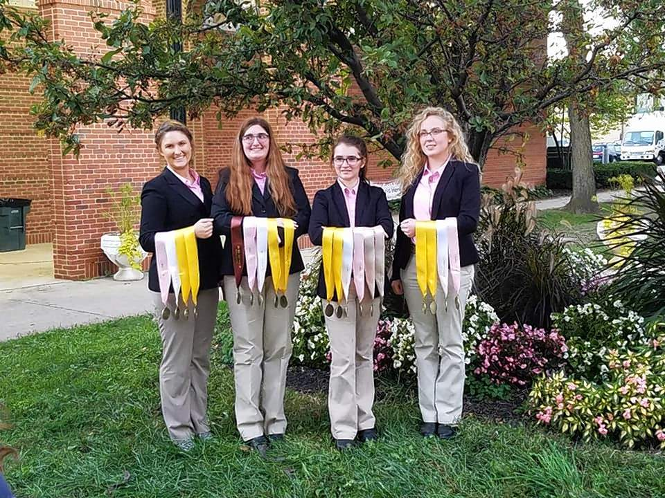 Saline County 4-H member Hannah Haney, along with 2018 Illinois 4-H Hippology Team members, Gwen Klinkey of Kane County, Audrey DeRossett of Jackson County and Katelyn Hamilton of Randolph County recently competed at the Eastern Nationals 4-H Horse Roundup in Louisville.