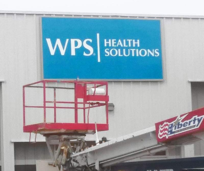 Shown here is the Installation of the WPS sign outside the West Frankfort Outlet Mall in November 2018.