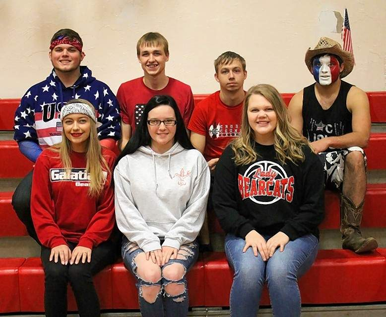 2018 Galatia Homecoming queen and king candidates are, back row from left, Dalton Fitzpatrick, Allen Marvel, Brendon Mondino and Casey Pribble; front row, from left, Kayli Clarida, Stephanie Curtis and Kelsi Watson. Not pictured: Karley Ratliff.