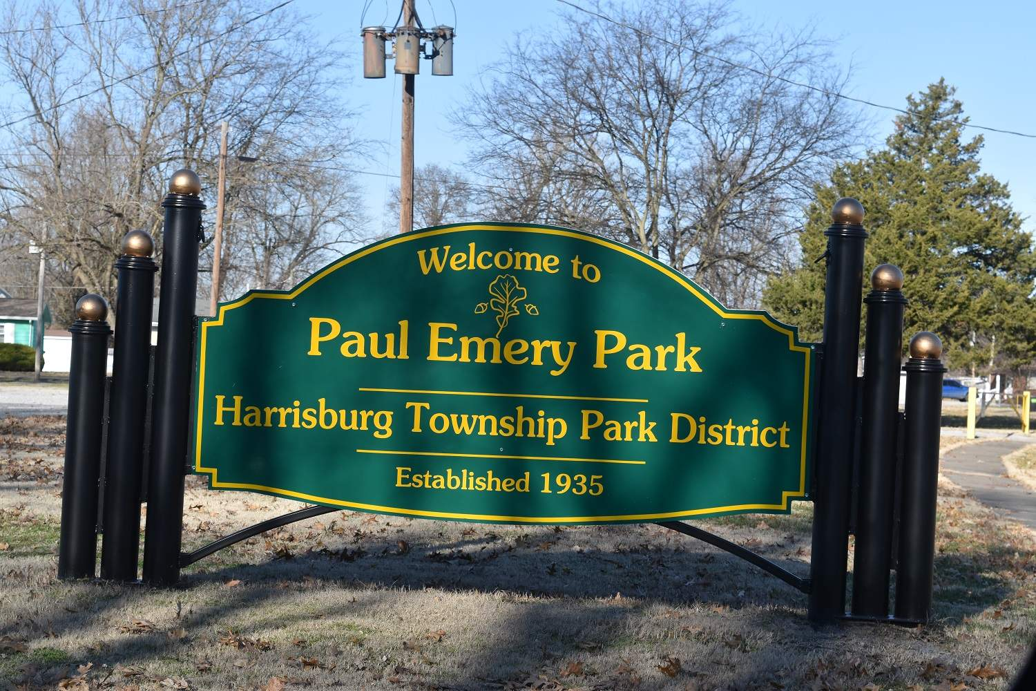 The main responsibility of the park district is Paul Emery Park, named for the father of Ron Emery and grandfather of Blake Emery