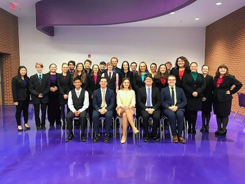 Harrisburg High School's speech team took first-place honors Saturday at its home regional. The team will travel to Chatham this weekend for sectional competition.