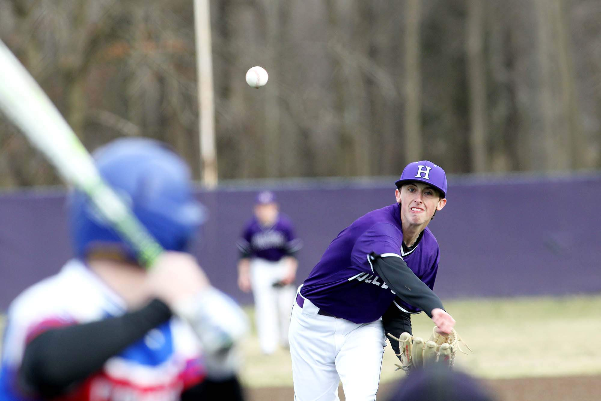 Harrisburg's Connor Phalin pitched one inning in Monday's combined no-hitter against Hardin County.