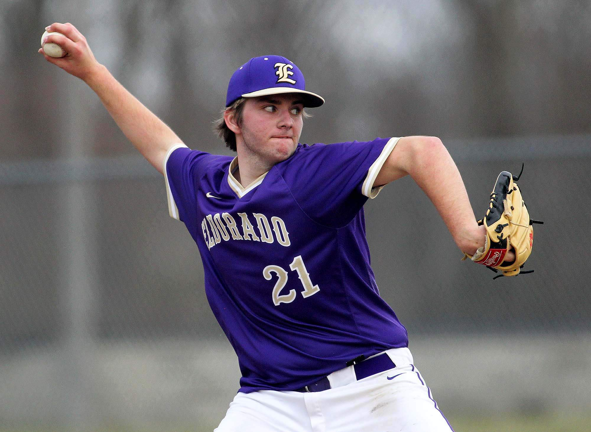 Braden Unthank took the loss for Eldorado in its season opener Wednesday at Carterville. Unthank allowed eight hits over 3.2 innings, striking out two and walking three.