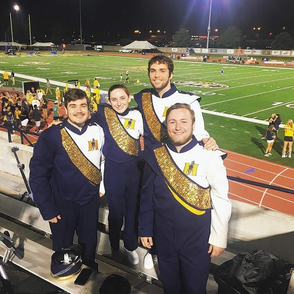 From left, Dylan Mitchell, Sarah Baldwin, Joshua Lowe and Brady Hodson.