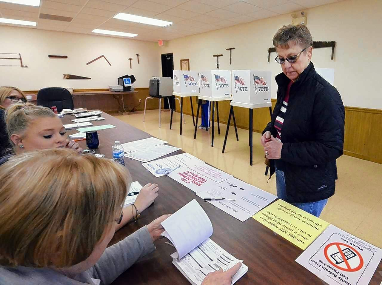 Marion resident Mary Nall was among those who turned up at the polling places Tuesday to cast her ballot in the low turnout election. She voted in West Marion 10 precinct.