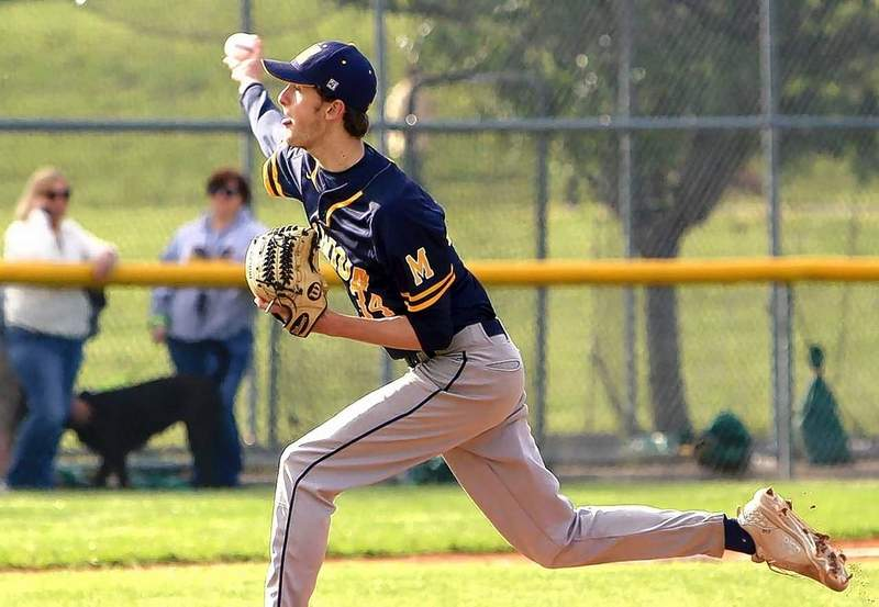 Mitchell Jackson of the Wildcats throws a pitch Monday against Herrin. He worked into the seventh, striking out seven, but was not the pitcher of record.