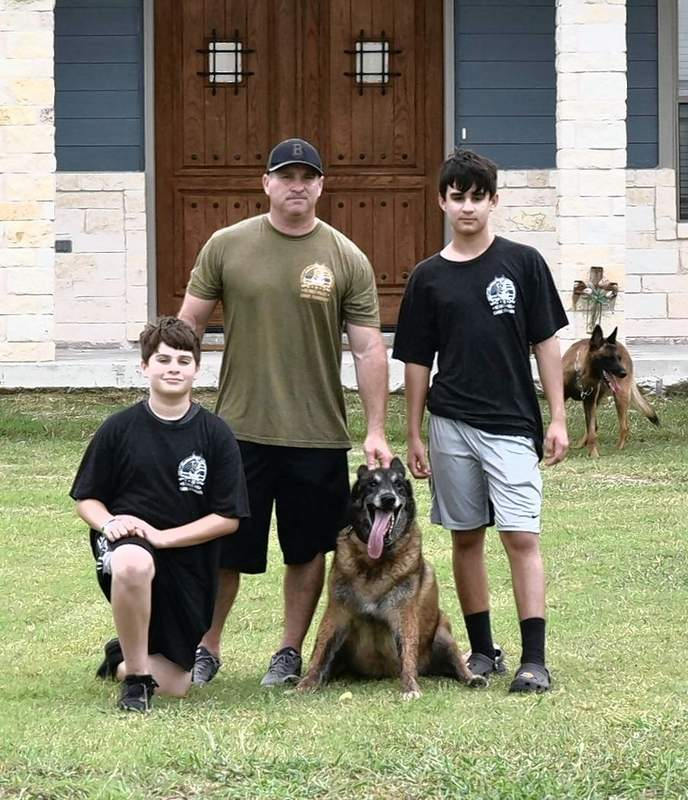 Endy, a Belgian Malinois, recently was reunited with his owner, Brian Buchanan, formerly of Harrisburg.