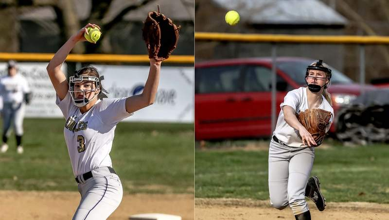 The Eldorado duo of Emma Wargel (left) and Paige Munds were both named to the Black Diamond All-Conference Softball Team this past season.