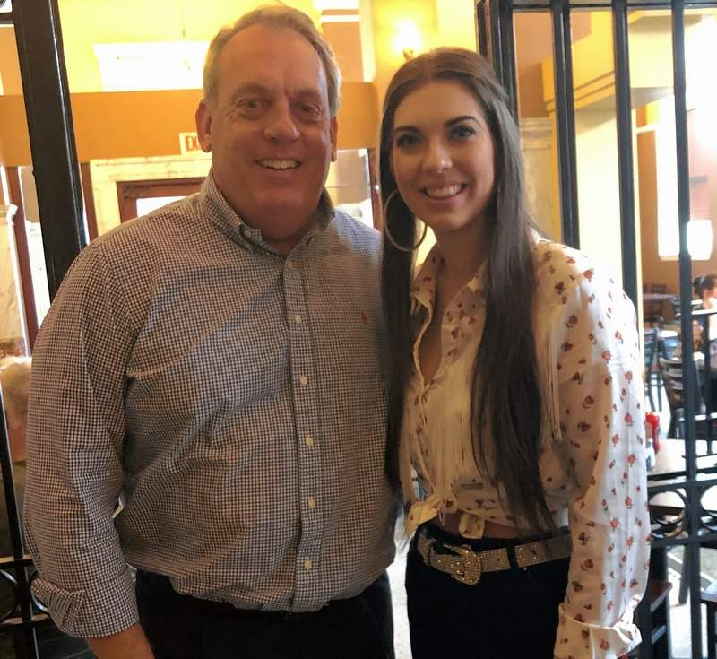 During a recent visit to Marion, rising country singer/songwriter Jenny Tolman, right, posed for a photo with Sen. Dale Fowler after breakfast at The Vault.