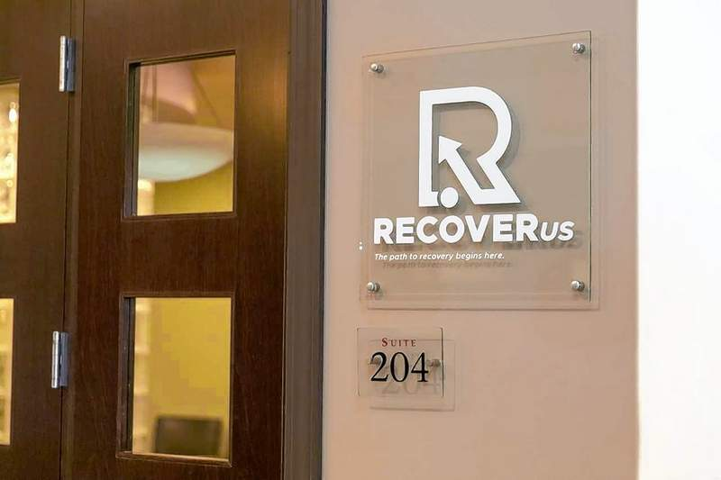 Pictured is the entrance to the newly opened RecoverUs drug treatment facility in Carbondale.