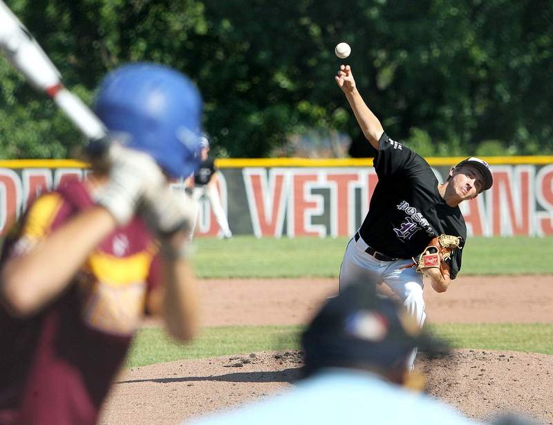 Andrew Bittle picked up the win for Post 167 in Monday night's semifinal win over Steeleville at the 5th Division American Legion Tournament in Fairfield.