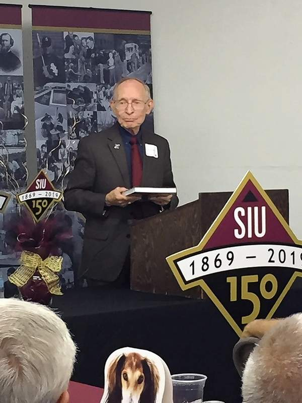 """John Jackson, former SIU chancellor and editor of """"Southern Illinois University at 150 Years,"""" discusses the university's history."""