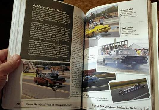 Mark Brothers' book about the history of Harrisburg's Accelaquarter Raceway is filled with images from the drag strip's past.