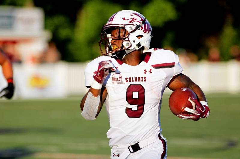 SIU senior running back D.J. Davis rushed for yards and scored two touchdowns in the Salukis' season-opening loss at Southeast Missouri State Thursday night in Cape Girardeau, Mo.