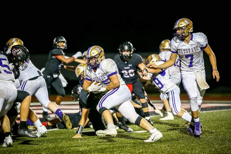 Eldorado's Jacob Etienne had four touchdowns, while rushing for 92 yards on 14 carries in the Eagles' season opening win at Johnston City Friday night.