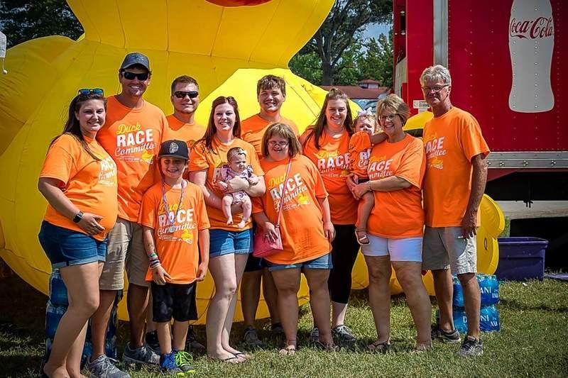 The Asbury Family is pictured from left: Caitlin Asbury, Nolan Carney, Maddux Carney, Nick Baskin, Lindsay Baskin, Amelia Baskin, McKinley Carver, Brenna Asbury, Emily Asbury, Alba Baskin, Jill Asbury, and Bill Asbury.
