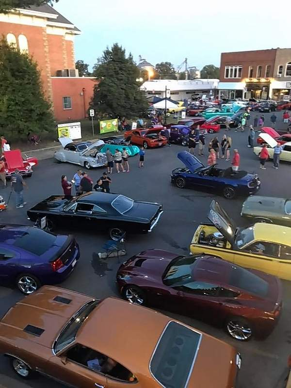 Courtesy of Kevin EdwardsCars were parked two-deep in many areas around the Benton Square on Saturday for the Rend Lake Car Show.
