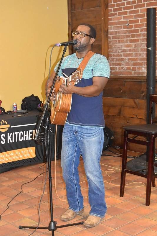 Pele Rogan performs at Heaven's Kitchen's one-year anniversary Tuesday.