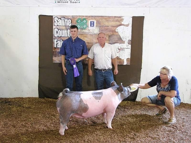 PHOTO COURTESY OF NANCY LAMBERT2019 4-H Crossbred Market Swine Grand Champion, Joel Glenn.