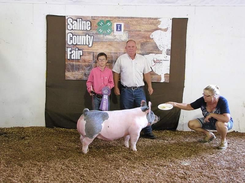 PHOTO COURTESY OF NANCY LAMBERT2019 4-H Crossbred Market Swine Reserve Champion, Karson Baird.