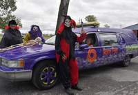 The Coleman Tri-County hearse again will be featured at the Haunted Forest this weekend at the Saline County Fairground.
