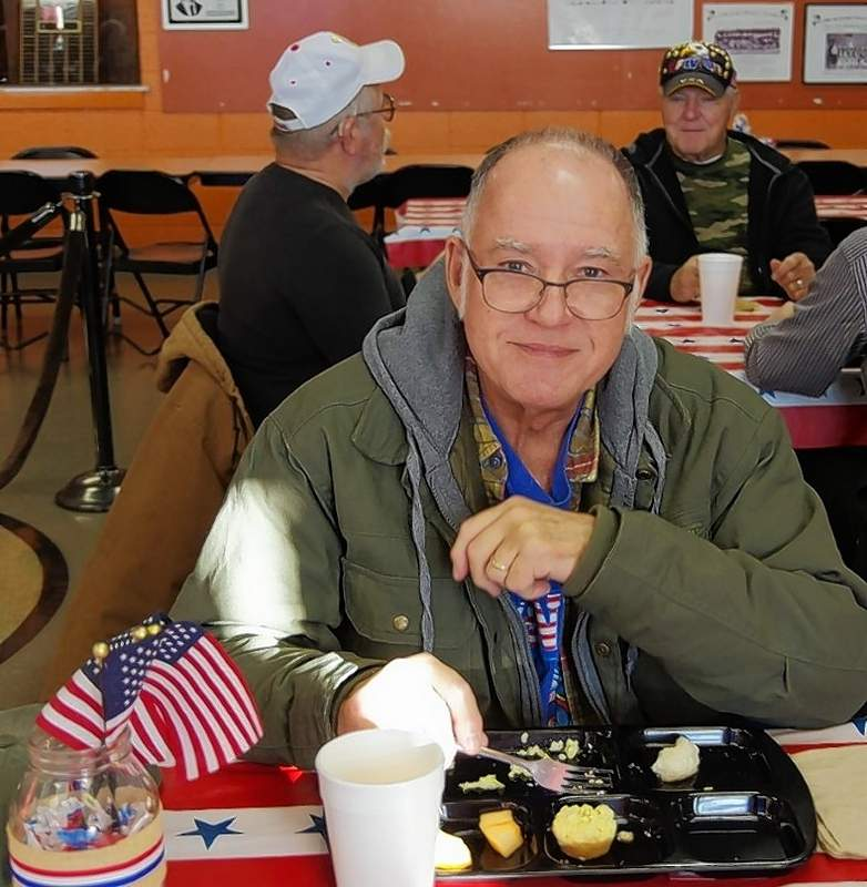 U.S. Army veteran Steve Belcher attends the veterans breakfast on Friday. Belcher is the father of CHS English Teacher Sara Hammel.