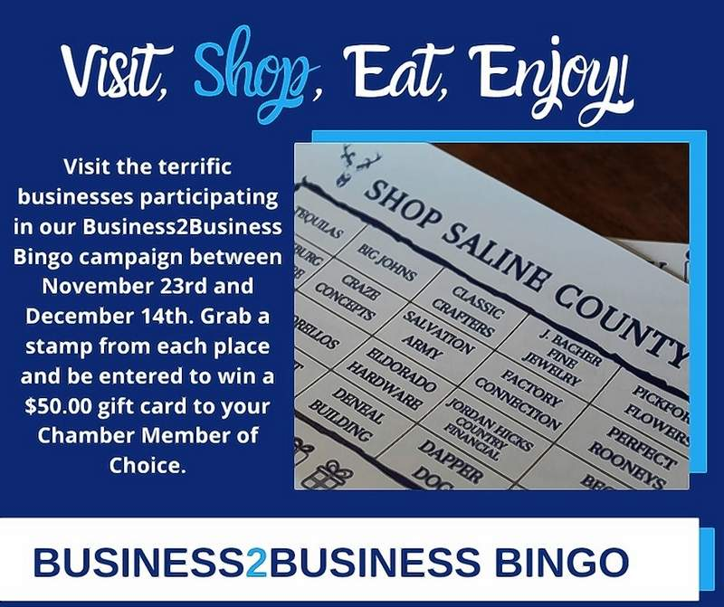 The Saline County Chamber of Commerce's Business2Business Bingo promotion runs through Dec. 14.