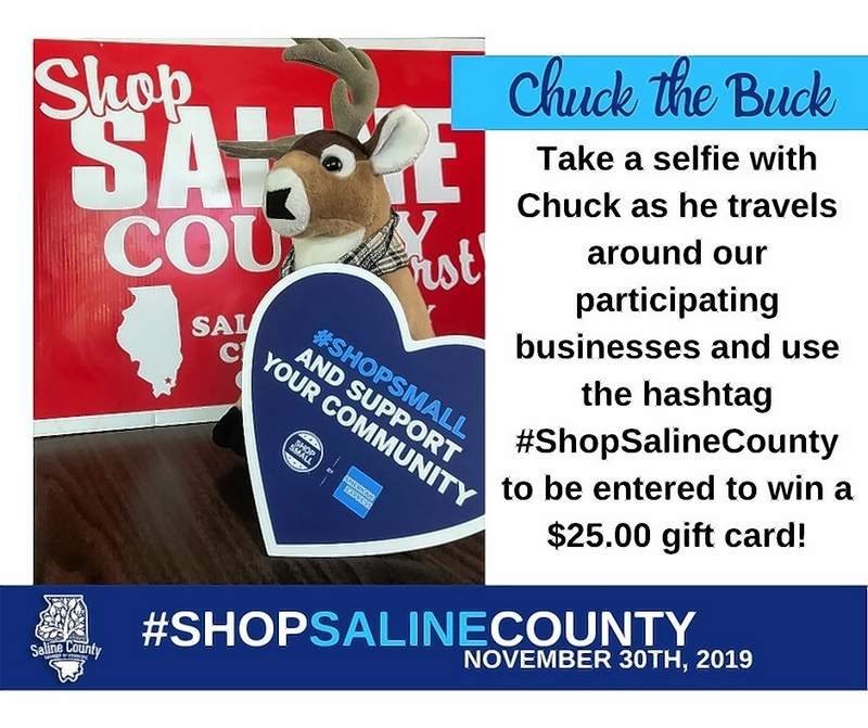 The Saline County Chamber of Commerce is promoting Chuck the Buck to encourage shopping at local businesses.