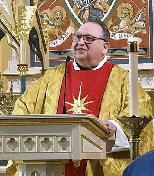 """The Very Rev. Eugene H. Wojcik, of """"Father Gene"""" celebrates the re-dedication of St. Mary's Church in Chester."""
