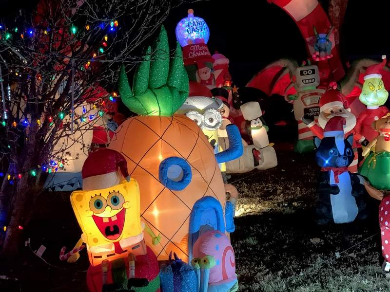 Alec Coulson's yard in Johnston City is a wonderland of Christmas with over 100 character displays and lights that twinkle to music.