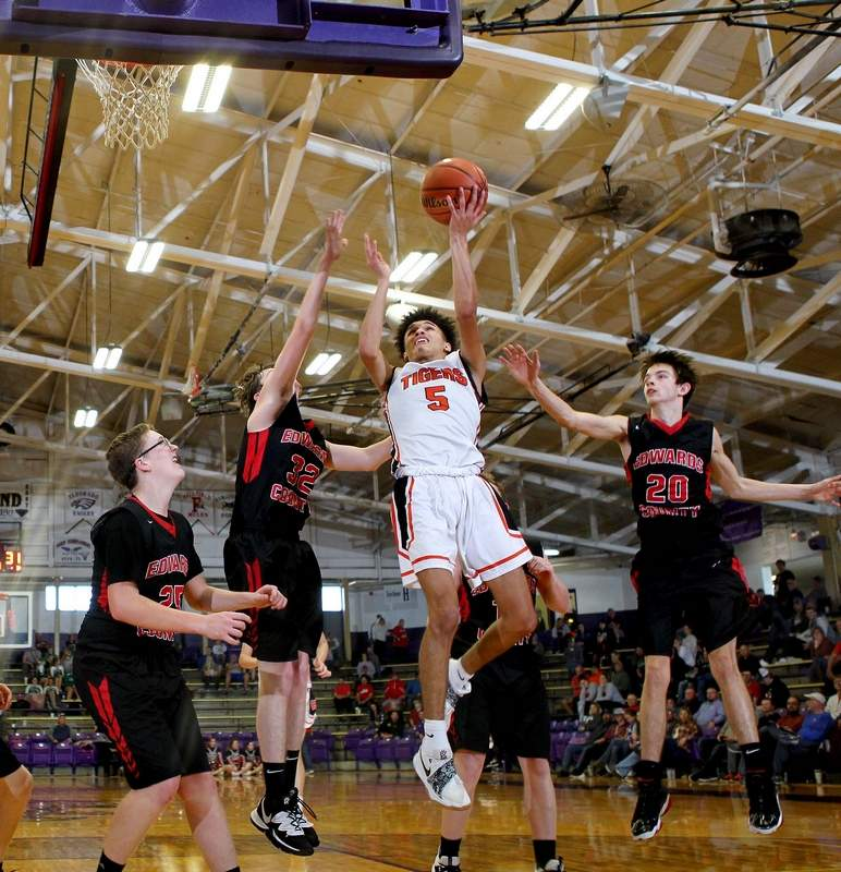Brandon Anthony had a tournament-high 25 points against Fairfield in Saturday's semifinal loss for the Tigers at the EHT.