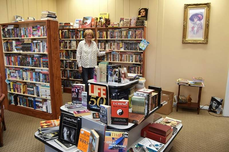 Josie Brooks, owner of the Book Emporium in Harrisburg, says she truly enjoys running her book store.