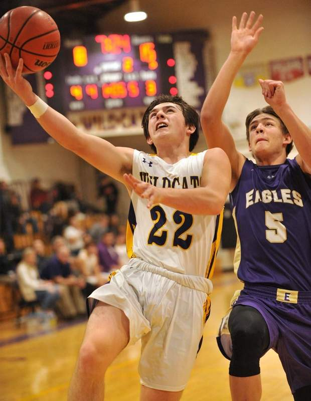 Colton Betz (22) had four points in Carrier Mills-Stonefort's win over Gallatin County this past weekend.
