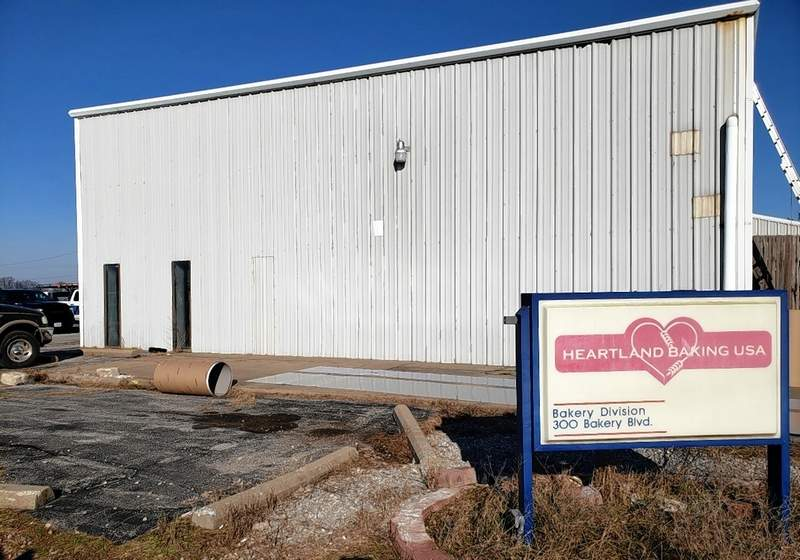 The old Heartland Bakery is being remodeled inside to become the site of the new hemp processing facility.