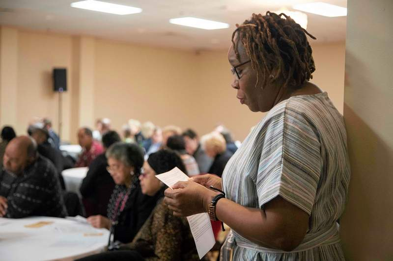 Elva Prince of Marion, along with the audience and other selected individuals, joined together for a responsive reading onRev. Dr. Martin Luther King Jr.'s famous speech.