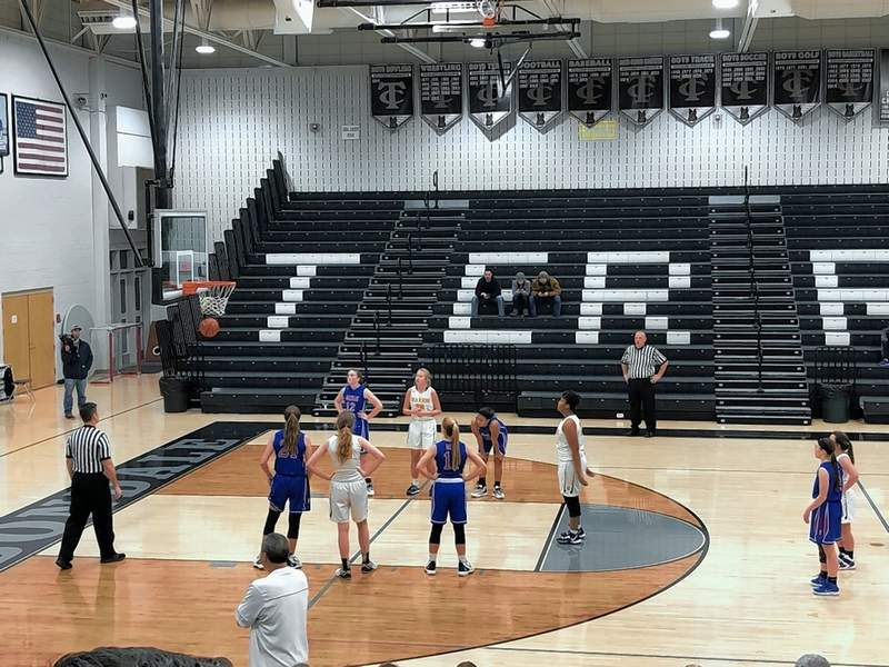 Marion's Alexis Hutchcraft sinks a charity shot in Monday night action at the Carbondale Mid-Winter Classic.  Hutchctaft was 2-4 from the line, scoring 10 points in her team's loss to Massac County.