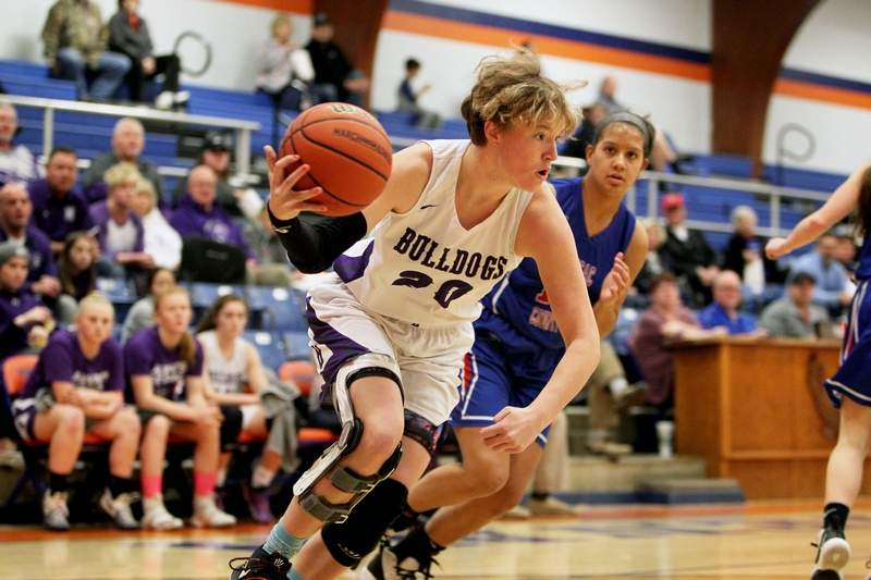 Harrisburg's Lauren McDaniel led the Bulldogs with 15 points in a 53-51 win over Massac County in Tuesday's IHSA Class 2A Regional semifinal at Vienna High School.