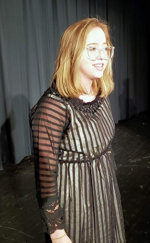 Sarah Lynde as Katherine, in Taming of the Shrew.